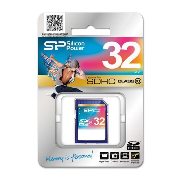 Silicon Power 32GB Class 10 SDHC Memory Card