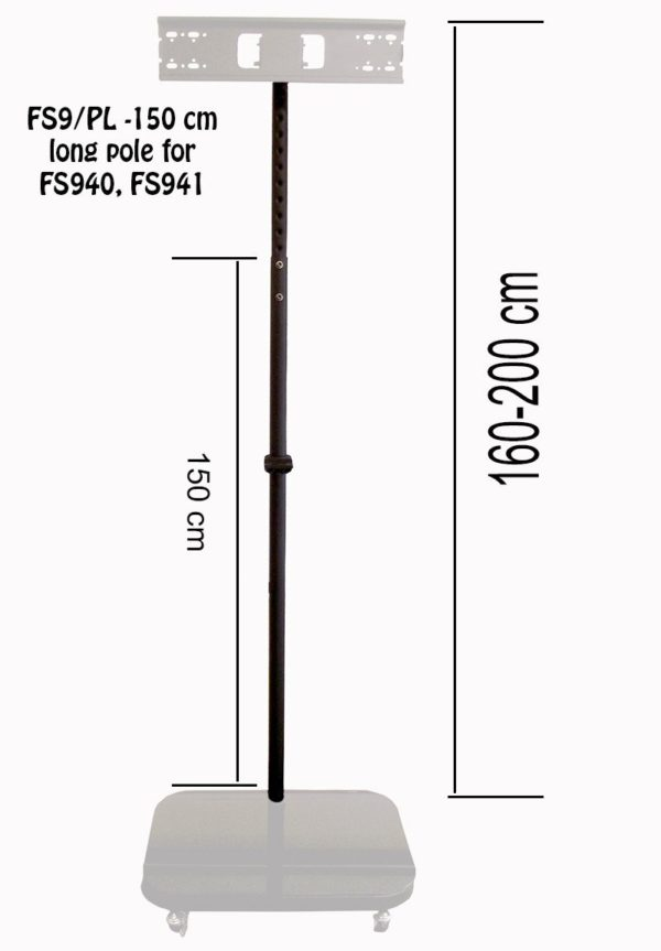 Long Pole (150 cm) For Allcam FS 940 and FS941 TV Stand Series