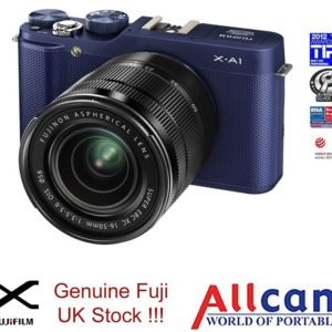 Fujifilm X-A1 Digital Camera with XC 16-50mm Lens Kit - Blue (16MP, APS-C CMOS Sensor) 3.0 inch Tilting LCD