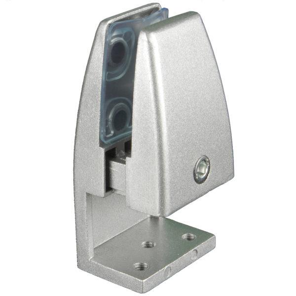 SEM02S Silver L-type office desk privacy screen bracket clamp silver