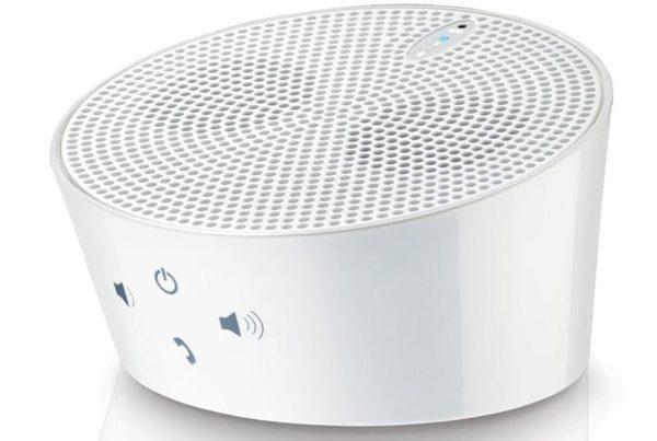 AVES Aqua Portable Bluetooth Speaker w/ Noise-reduction Mic Handsfree Phone Kit in White