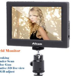 "Allcam CL5585H 5"" LCD Portable Field Monitor for Professional Video Cameras SLRs Camcorders w/ HDMI, Peaking, BlueGun"