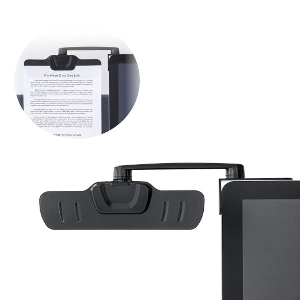 DC01B Over-monitor document clip Black