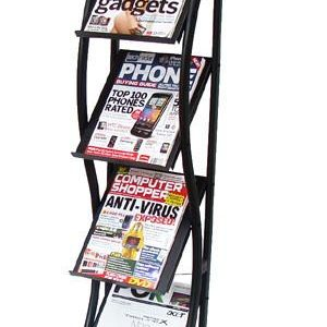 DR006 Exhibition/Retail Display Floor Stand for Brochures Books Magazines