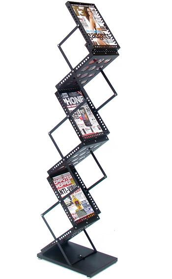 DR009 Foldable Exhibition/Retail Display Floor Stand for Brochures Books Magazines