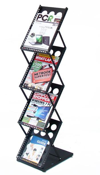 DR015 Foldable Exhibition/Retail Display Floor Stand for Brochures Books Magazines