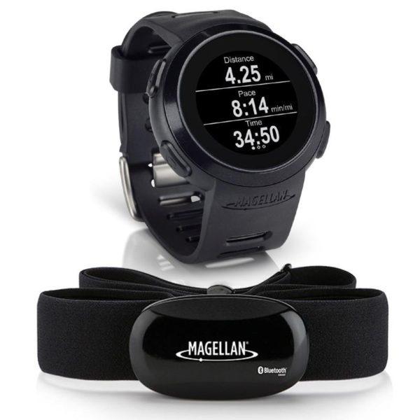Magellan Echo Smart Sports Watch (Black) + Bluetooth Heart Rate Monitor