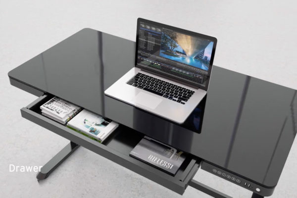 Allcam ED20 Electric Height adjustable desk table storage drawer