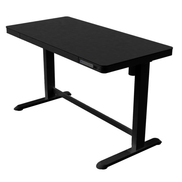 Allcam ED20 Electric Height Adjustable Sit-Stand Desk w/Top, Drawer & Fast USB Chargers