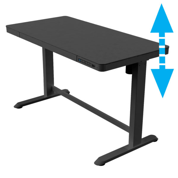 Allcam ED20B electric sit stand desk home working height adjustable black