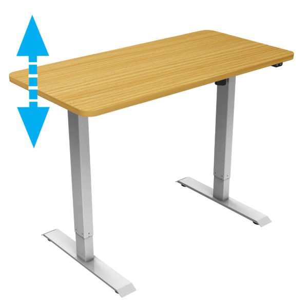 allcam desk electric height adjustable working from home standing desk beech