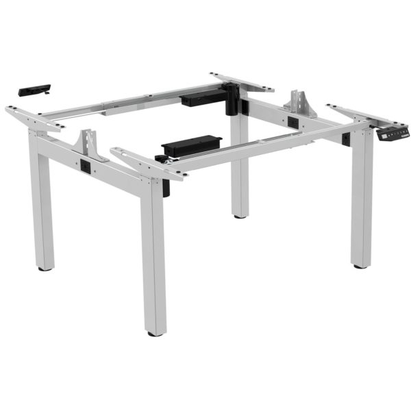 EDF24Q Back-to-Back Electric Height Adjustable Sit-Stand Desk/ Bench Frame SIlver
