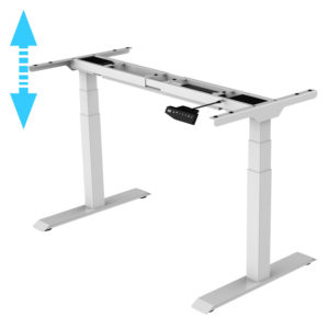 Allcam EDF32D electric height adjustable sit stand desk frame white