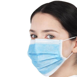 type IIr disposable face mask blue