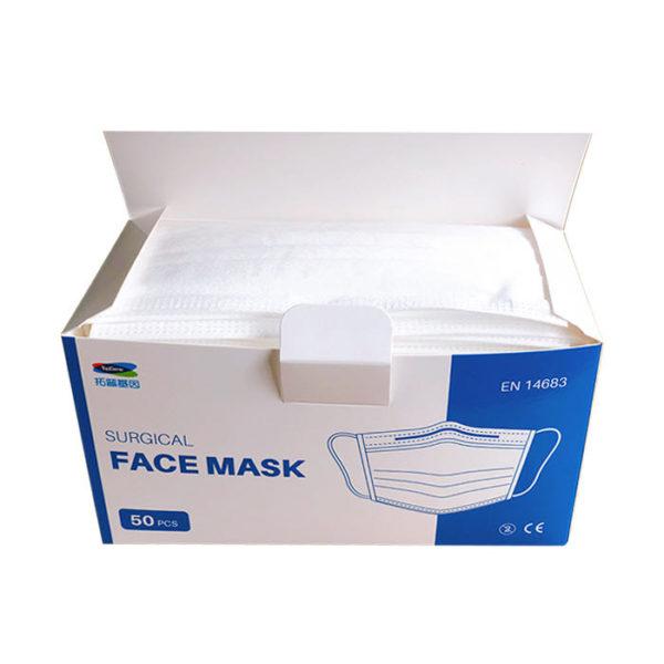 type IIr disposable 3-ply non-woven face open box