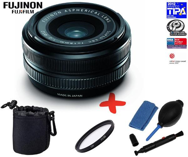 Fujinon XF 18mm F2 R Prime Lens for Fuji CSC Cameras (optional Accessory Kit)