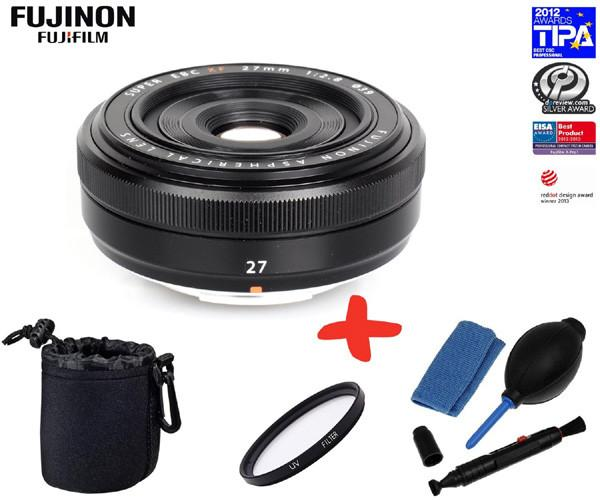 Fujinon XF 27mm F2.8 Pancake Lens for Fuji CSC cameras (optional Accessory Kit)