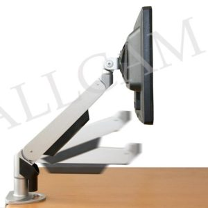 GSD100 Gas Spring LCD/LED Monitor Arm Stand w/ Desk Clamp & Grommet