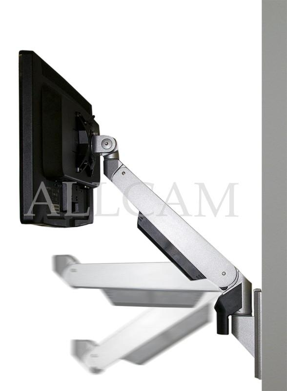 GSW120 Gas Spring Wall Mount LCD/LED Monitor Stand w/ vesa bracket: free up/down & left/right motion