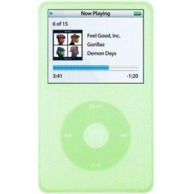 Silicone Skin/Case for iPod Video 60/80GB Green