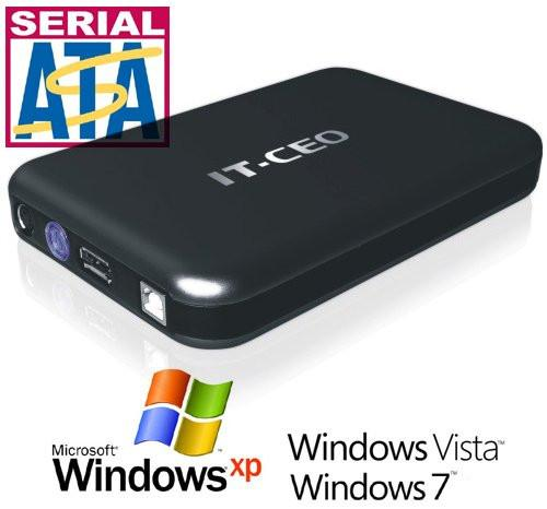 "Allcam IT735U3 USB3 / e-SATA combo 3.5"" SATA Hard Drive Enclosure External HDD in Black"