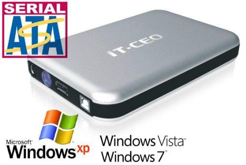"Allcam IT-735 USB2 / e-SATA combo 3.5"" SATA Hard Drive Enclosure External HDD in Silver"