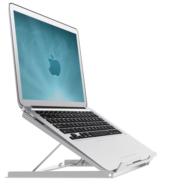 LPS01S Smart folding laptop riser / cooler White