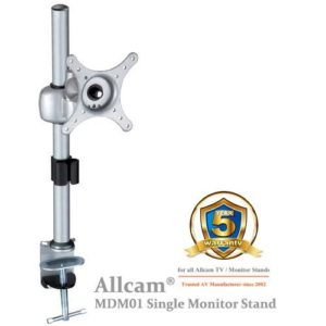 MDM01 Single LCD Monitor Stand Desk Mount Bracket, Tilt up/down 30° Swivel left/right 90°
