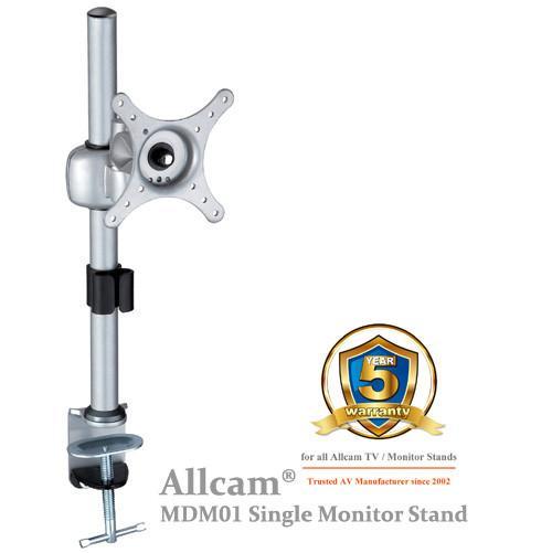 MDM01 Single LCD Monitor Stand Desk Mount Bracket, Tilt up/down 30° Swivel left/right 90°
