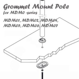 Desk Grommet Mount Pole for MDM0-series MDM01 MDM04 MDM05 MDM06, MDM07