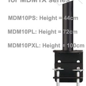 Pole Module w/ Desk Clamp for MDM10 & GSA series: MDM11S, MDM12D/Q, GSA12S GSA12D