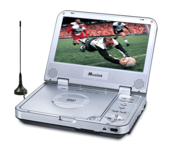 "Mustek MP70D 7"" LCD Portable DVD Player / DVB-T Freeview Digital TV 2-in-1"