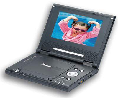 "Mustek MP76D 7"" Portable DVD Player with Builtin Li-ion Battery"