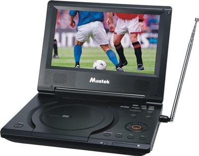"Mustek MP86ATV 8.5"" Portable DVD Player w/ Analog TV"