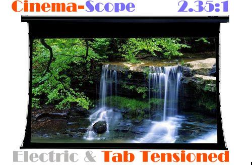 "PC106MET 106"" CinemaScope 2.35:1 HD Projection Screen Tab-Tensioned Electric"