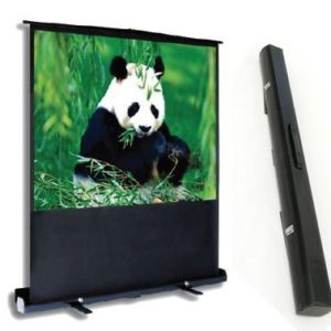 """PCP60MM 60"""" Portable Projection Screen Matte White Integrated Carry Case/ Floor Stand"""