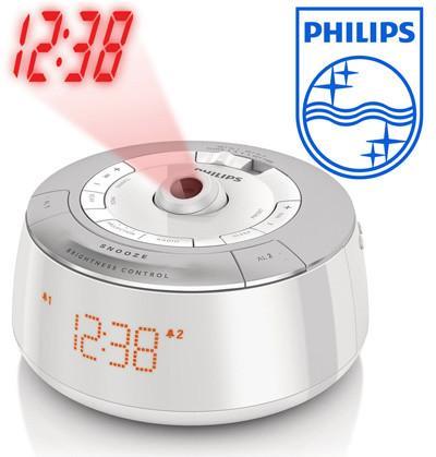 Philips AJ5030 Projection Clock Radio w/ Dual Alarm, Sleep Timer/ Sleeptimer & Digital FM tuner