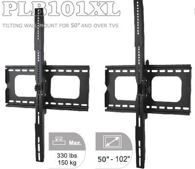 "PLB101XL Wall Mount Bracket for Extra Large (>50"") LCD/Plasma TVs"