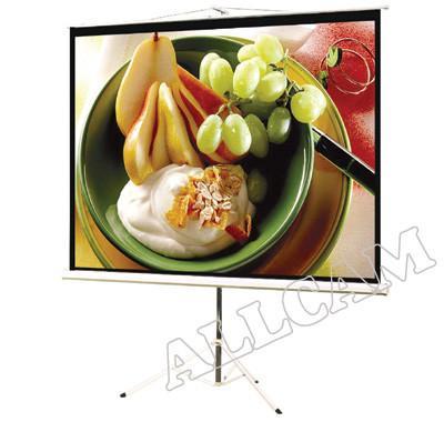 "PCT80MM 80"" Projector Screen Matte White 16:9 Widescreen w/ Tripod Mount"