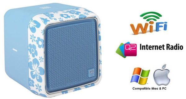 Q2 Wi-Fi Internet Radio with Full Motion Tip and Tilt Control in Blue