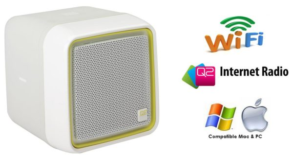 Q2 Wi-Fi Internet Radio with Full Motion Tip and Tilt Control in White