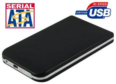 "USB 2.0 2.5"" SATA Hard Drive Enclosure USB2 Portable SATA-II"