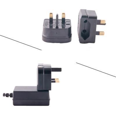 2pc EU-UK - European to British travel mains power adapter,w/5 AMP fuse