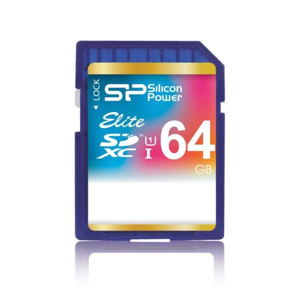 Silicon Power Elite 64GB SDXC Class 10 UHS-1 Memory Card </b