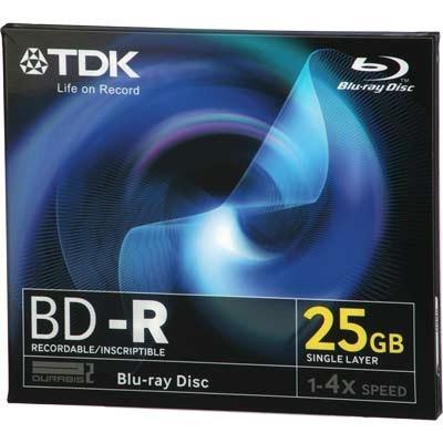 TDK BD-R Black Media 25GB 4x Speed in Jewel Case