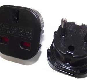 2pcs UK 3pin to European Germany France EU 2 pin Schuko Plug Travel Adapter CEE 7/7