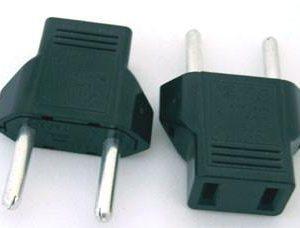 US/Japan/China 2pin to EU 2pin Adapter/Plug Converter