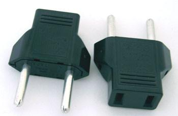 US/Japan/China 2pin to EU 2pin Adapter/Plug Converter
