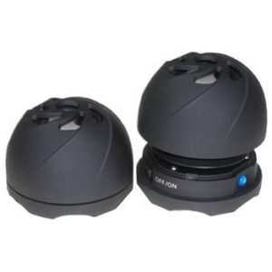 ViBr8 Portable Capsule Speakers w/ Built-In Rechargeable Batteries For iPod, DVD, MP3/MP4 Players