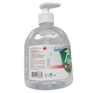 75% alcohol hand sanitiser with pump wash-free antivirus safety label